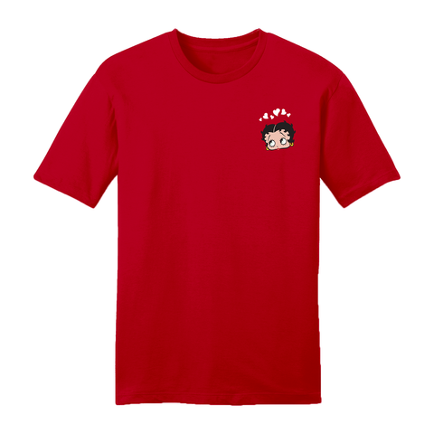 'Red Betty' Women's Ringer T Shirt Pink/Red