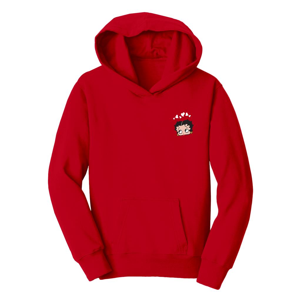 'Modern Classic' Youth Hoodie Red