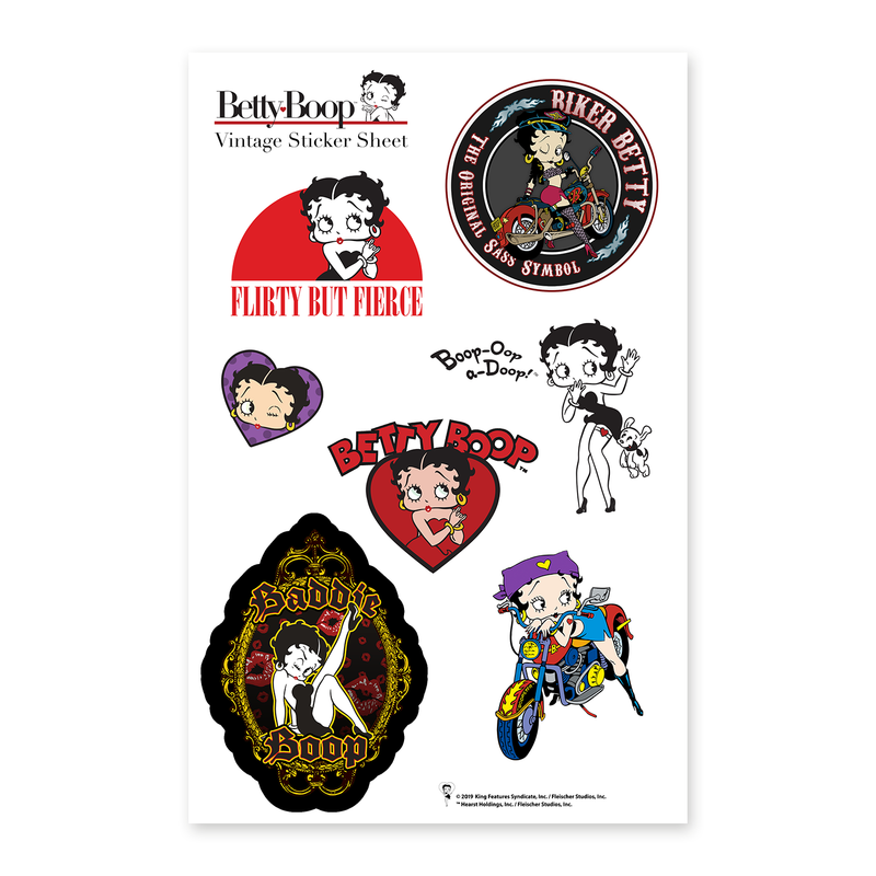 Betty Boop Vintage Sticker Sheet