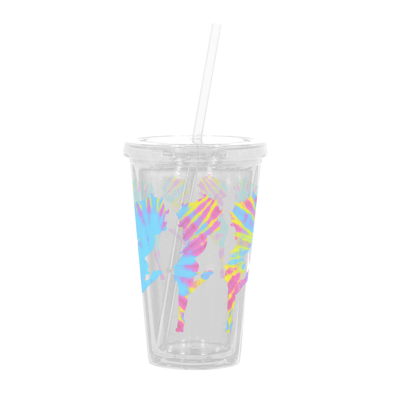 Betty Boop Tie Dye Betty Reusable Tumbler with Straw
