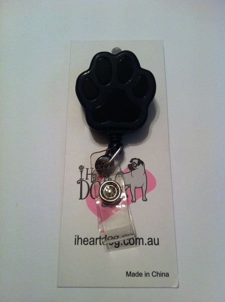 Paw Badge Reel