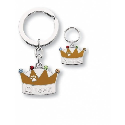 Queen/ Princess Keyring and Charm Set