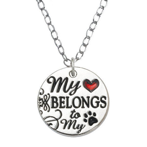 My Heart Belongs Necklace