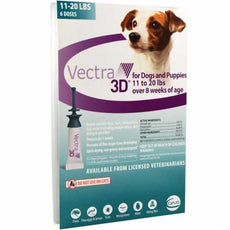 VECTRA 3D Teal for Medium Dogs 11-20 Pounds (6 Doses)