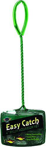 Blue Ribbon Pet Products ABLEC4C Easy Catch Fish Net, 4-Inch, Coarse Green