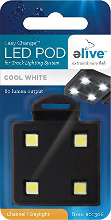 Elive LED Aquarium Fish Tank Pod Lighting - Replacement Pod for LED Track Light, Cool White