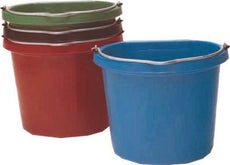 Fortiflex Flat Back Feed Bucket for Dogs/Cats and Small Animals, 20-Quart, Green