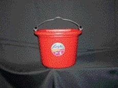 Fortex Industries Inc. Fortiflex Flatback Buckets, 8 qt Red