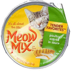Meow Mix Market Select Poultry Entree in Gravy Cat Food 2.75 oz (Pack of 24)