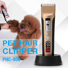 PETFLY Pet Clipper, 3 Speeds 2 Combs Pet Grooming Kits Rechargeable and Cordless with Charging Dock Pet Electric Clipper PS950