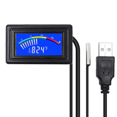 KETOTEK Digital Aquarium Computer Thermometer,USB Temperature Meter Gauge Car Thermometer Celsius/Fahrenheit LCD Display,Waterproof NTC Probe For Fish Tank PC Automotive Digital Thermometer with USB