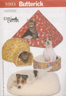 Butterick 5903 - Cozy Critters - Pet Beds