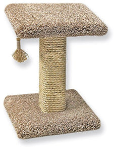 Beatrise Sisal Post with Square Base and Perch Brown 18