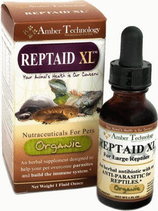 Amber Technology Reptaid XL- An herbal Supplement to help your small reptiles overcome some parasitic and bacterial infections