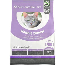 Only Natural Pet Feline PowerFood Dry Cat Food Rabbit Dinner 3 lb