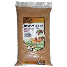 Zilla Dry Ground English Walnut Shell, Desert Sand Blend, 5-QT