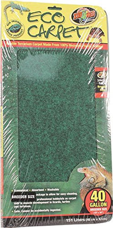 "Zoo Med 26080 Repti Cage Carpet (1 Pack), 18"" x 36"", Colors may vary"