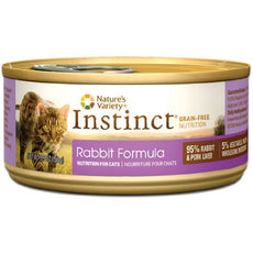 Instinct Rabbit Canned Cat Food Size: 5.5 oz., case of 12