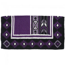 Tough 1 Cherokee Wool Saddle Blanket Purple/Black