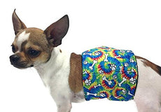 Group One Dog Gallery The Dog Belly Band Tie Dye Bones Washable Waterproof X-SM 5-14""