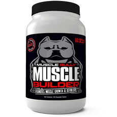 Muscle Builder Bullies, Pitbulls, Bull Breeds - Contains Proven Muscle Building Ingredients That Support Muscle Growth & Definition On Your Dog. Made in The USA. 100% Safe, No Side Effects. 1 Pack - 120 Tablets