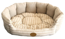 Best Pet Supplies Lotus Bed for Pets, Small, Tan Stripes
