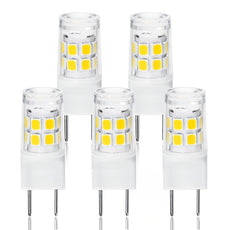 LED G8 Light Bulb, G8 GY8.6 Bi-pin Base LED, Not Dimmable T4 G8 Base Bi-pin Xenon JCD Type LED 120V 50W Halogen Replacement Bulb for Under Counter Kitchen Lighting (5-Pack) (G8 3W Daylight) G8 3w Daylight