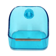 MoMaek Small Animal Supplies Plastic Pet Rabbit/Guinea Pig/Galesaur/Hamster Grass/Food/Water Double Use Container/Feeder/Bowl/Dish Light blue