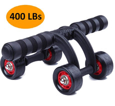 KANSOON Ab Wheel Fitness Equipment - 3/4 Wheels Innovative Ergonomic Abdominal Roller Carving System - Home Gym Boxing Exercise Workout Equipment 4 Wheels