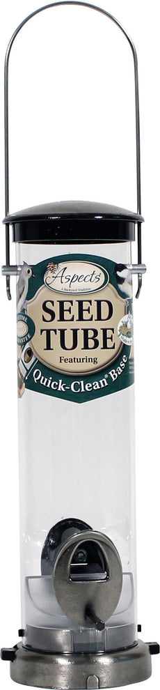 Small Seed Tube Feeder in Brushed Nickel