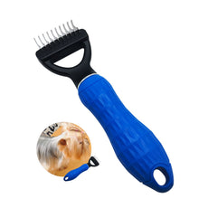 FurPro Pet Dematting Comb Grooming Undercoat Rake for Medium to Large Dogs, Cats Dog,10 blrades