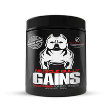 Muscle Bully Gains - Mass Weight Gainer, Whey Protein for Dogs (Bull Breeds, Pit Bulls, Bullies) Increase Healthy Natural Weight, Made in The USA 90 Servings