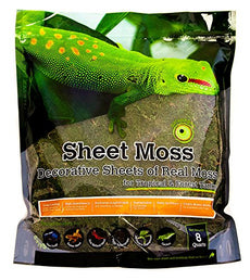 Galapagos Sheets of Real Moss, 8-Quart, Natural 8 quarts