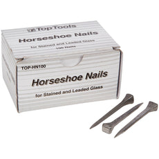 Top Tools Steel 2 Inch Horseshoe Nails Box of 100
