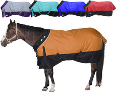 Derby Originals Horse Turnout Blanket Reflective Waterproof Breathable 1200D, 300G 210T Orange 72""