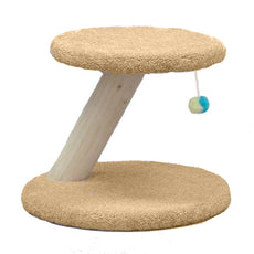 "Classy Kitty 18"" Rustic Cat Scratching Post with Toy 16x18x18"