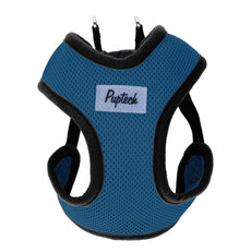 "PUPTECK No Choke Safety Dog Harness No Pull Vest for Small Puppy Freedom Walking Blue L (Chest 25""-28.3"")"