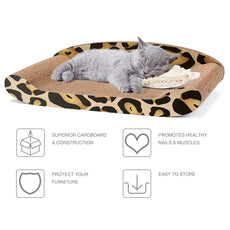 Cyttengo Cat Scratcher Durable Reversible Cat Scratching Pad Recycled Harden Corrugated Cardboard Sturdy Eco-Friendly Design Maintain Healthy Cat Claws and Protect Furniture from Harm Catnip Included