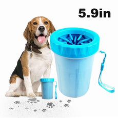 Swonuk Portable Pet Paw Cleaner, Pet Foot Washer Cup, Soft Silicone Cleaning Brush for Small Pets, Cleaning Brush Cup for Dog Foot Cleaner
