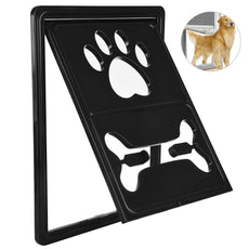 Petacc Multi-functional Pet Screen Door Rotary Dog Gate Way Practical Pet Passage Screen Door with Snap Latch and Automatic Lock Design, Suitable for Most Door and Window Screen Black