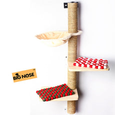 Bignose- Mutivels climber cat tree with solid wood steps and sunny seat hammock