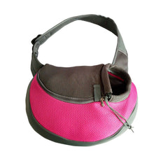 YUDODO Sling Pet Carrier, Reversible Mesh Travel Tote Shoulder Sling Bag for Dogs Cats Pink S(up to 4 lbs)