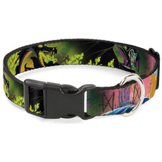 Buckle-Down Breakaway Cat Collar - Sleeping Beauty & Maleficent/Maleficent Dragon Scenes NARROW SMALL - Fits 6-9 Inch (0.5 Inch WIDE)