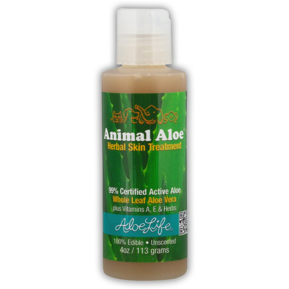Aloe Life - Animal Aloe, Digestive Aid and Skin Treatment, Soothes Hotspots, Flea Bites and Irritation, Supports Pets Digestive Health and Overall Wellness (Unscented, 4 oz)