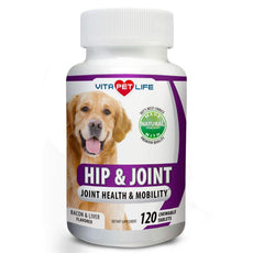 Vita Pet Life Glucosamine Dogs, Hip Joint Support Dogs, MSM, Chondroitin, Pain Relief from Arthritis, Joint Inflammation Dysplasia, Promotes Healthy Cartilage Mobility, 100% Natural 120 chews