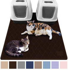 "Gorilla Grip Original Premium Durable Cat Litter Mat, XL Jumbo, No Phthalate, Water Resistant, Traps Litter from Box and Cats, Scatter Control, Mats Soft on Kitty Paws, Easy Clean Mats Brown Jumbo (47"" x 35"")"