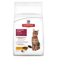 Hill'S Science Diet Adult Optimal Care Chicken Recipe Dry Cat Food 16 lb