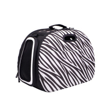 Collapsible Dog and Cat Carrier, a great substitute for pet kennel and dog carrier purse Zebra
