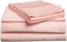 "VGI Linen Solid Pattern Hotel Series 100% Egyptian Cotton Quality Genuine 600 Thread Count 4-PCs Sheet Set King Size, Peach Color (Deep Pocket 15"" Inch)"