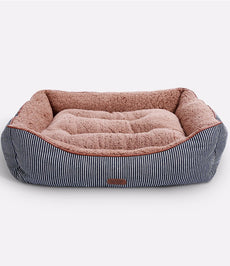 "Smiling Paws Pets Washable Premium Dog and Cat Bed/Lounge with Soft Sides - Organic Cotton - A Puppy and Kitty Dream Bed | by 35"" x 26"" x 7"""